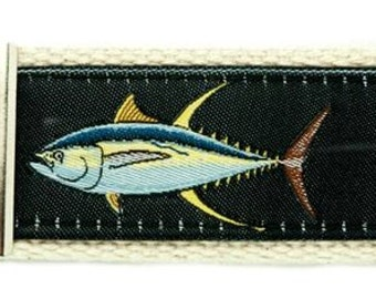 Guy Harvey Black Yellowfin Tuna key Chain