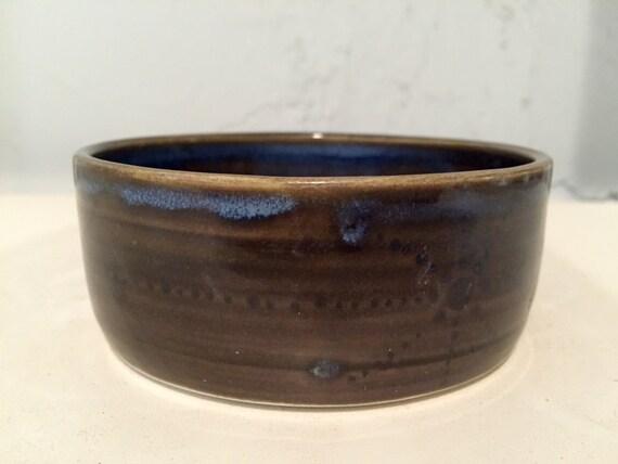 Ceramic multipurpose bowl/dish - abstract design - blue - half price!