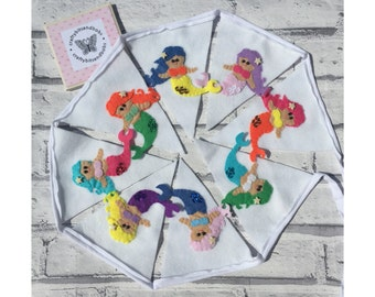 Mermaid bunting, playroom bunting, party bunting