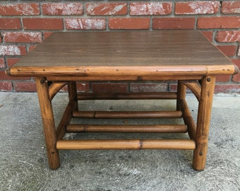 Rattan side table manufactured by Kalp-son