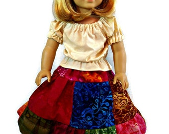 18 inch doll dress - 18 inch southwest doll dress - 18 inch doll clothes - fits the American Girl and similar 18 inch dolls.