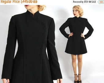Summer SALE 90s Black Mini Dress   Herve Leger Dress   Paris Designer  Little Black Dress   Medium