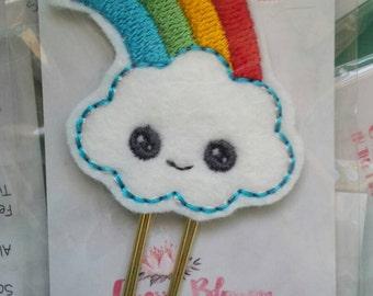 Cute Kawaii Rainbow Cloud Paper Clip