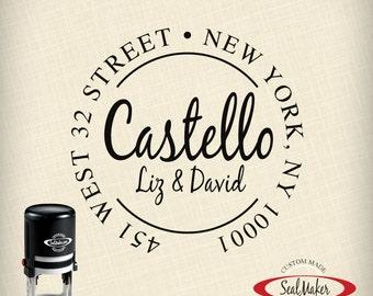 "Custom Self-Inking Address Stamp - ""Castello"""