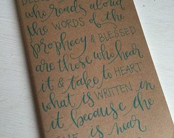 Moleskine Journal // Ruled Journal // Handlettered Journal //  Bible Verse