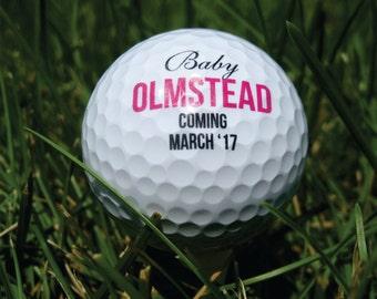 Personalized Golf Balls - SET OF 6 - Birth Announcement -  Custom Golf Balls - Printed Golf Balls =  Wedding Golf Balls - Golf Wedding
