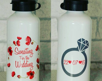 Sweating for the wedding water bottle sports bottle wedding gift custom water bottle personalised wedding bride gift bridesmaid gift bride