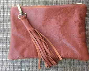 Italian leather clutch, leather purse, leather clutch, handmade leather purse, brown leather clutch,