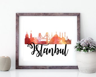Istanbul Digital Art Print