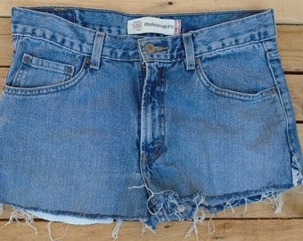 Vintage Levi Shorts, Size Small, Small Shorts, Small Denimhorts, Vintage Hot Pant, Levi Cut Offs, High Waisted Shorts, Denim Shorts