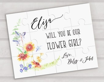 Will you be our flower girl puzzle - Wedding proposal puzzle - be my flower girl proposal - custom puzzle - flower girl gift - bridal party