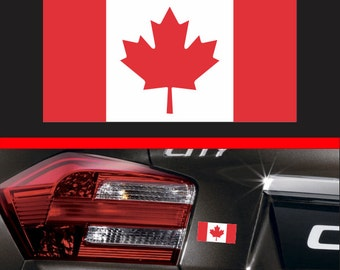 Subdued Canadian Flag Thin Blue Line Sticker Vinyl Decal - Vinyl decal stickers canada