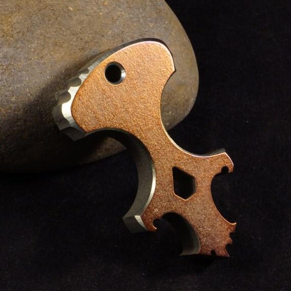 Anodized 'The Scorpian' Titanium Skully Dagger/Bottle Opener