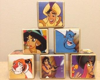Aladdin storybook blocks