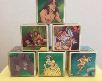 Tarzan storybook blocks