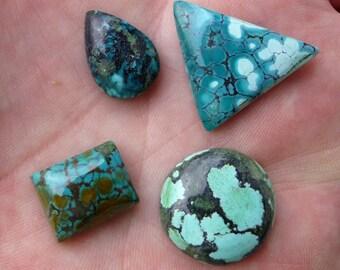 Turquoise cabochons, lot no. 1, 52.4 Carat