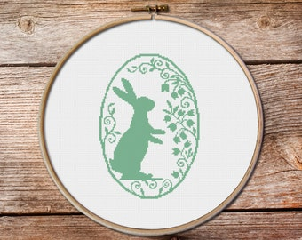 Easter Bunny Stitch Pattern, Easter Cross Stitch Pattern, modern cross stitch, Cross Stitch Pattern, funny cross stitch,easy cross stitch