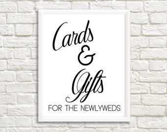 Wedding Printable, Digital File, Cards & Gifts, Print at home
