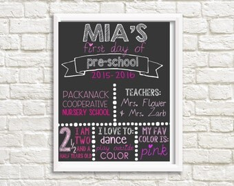 First Day of School Sign - Printable, Digital File