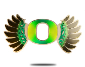 University of Oregon Vintage Steel Wall Art Wing Logo
