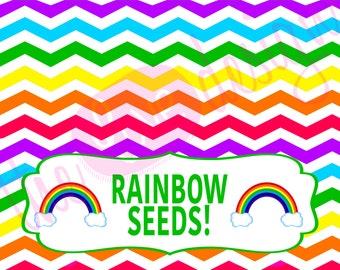 Rainbow Seeds Printable- *INSTANT DOWNLOAD!*