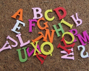 Hanging Wooden Alphabet