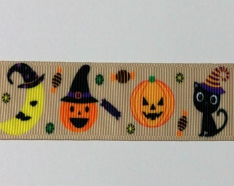 Halloween Ribbon - Pumpkin Ribbon - Cat - Moon - Crafting - Scrapbooking