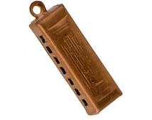 Vintage harmonica charm. 25x8mm Pkg. of 1.  b9-0676(e)