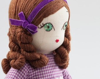 Camille - Handmade Cloth Doll