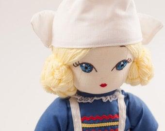 Emma from Netherlands - Handmade Cloth Doll