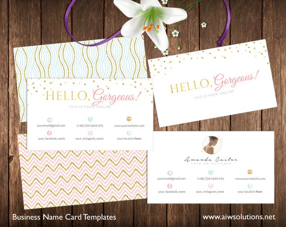 Stylist Business Card Template Calling Card Templategold