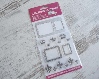 """Clear stamps & cutting die """"royal"""""""