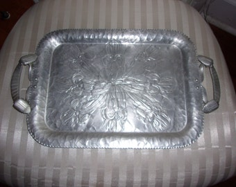 Vintage Hand Wrought Aluminum Tray No. 623