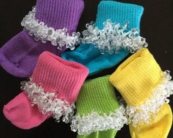 Handmade Infant Beaded Socks