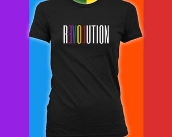 Revolution Shirt - Gay Pride Ally T-Shirt, Gay Pride Clothing, Gay Pride Merchandise, Mens Womens Shirts, gay pride parade, LGBTQ -CT-498