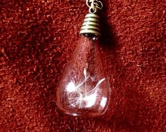 Dandelion Floating Drop Necklace
