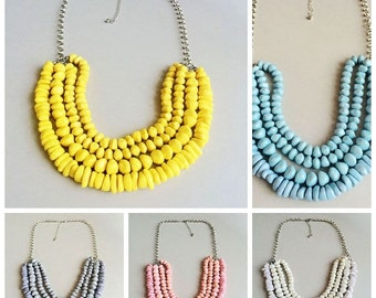 Beads Necklace beaded strands necklace