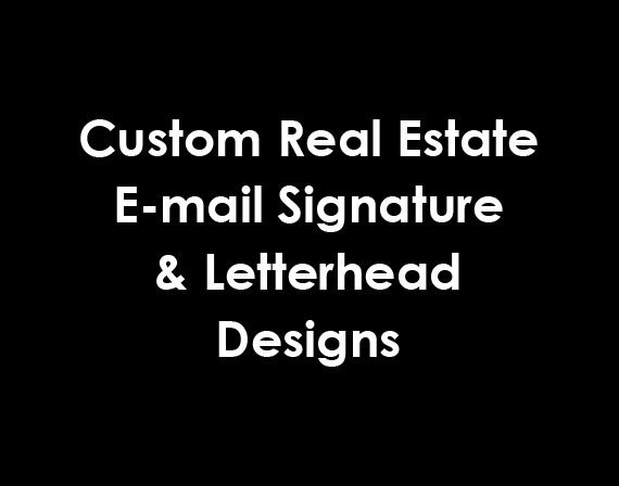 Real Estate Signature and Matching Letterhead Design