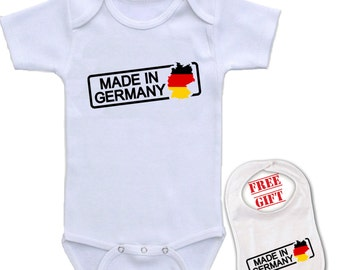 German baby shower etsy gift shower funny cute baby bodysuit custom made in germany personalized onesie 1080 negle Images