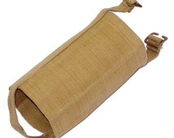 1940's Water Bottle Cover British Army M37 1937 pattern webbing flask holder khaki sand WW2