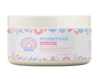 Maternal Growing Belly Balm 4oz / 113g - 100% Pure and Natural Ingredients - Safe for Pregnancy & Beyond / Stetch marks / Itching