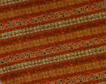 Orange Fabric Yardage, Cotton Fabric
