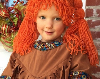 crocheted wigs - hats for children to adults