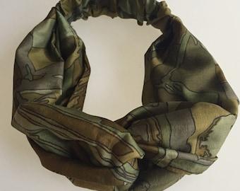 Silk Hairband Army