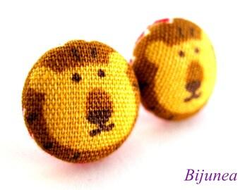 Lion earrings - Orange Lion earrings - Lion studs - Lion posts - Lion stud earrings - Lion post earrings sf824