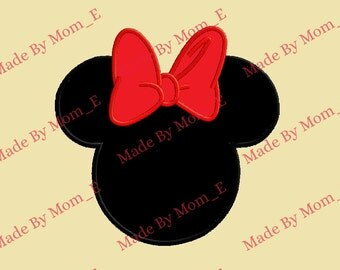 Mrs Mouse Bow Applique - INSTANT DOWNLOAD (4x4, 5x7, 6x10)