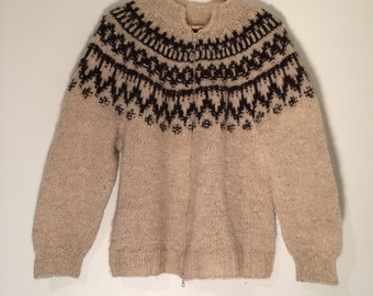 Icelandic wool Sweater , Sheep wool sweater , Comfort  and Beautiful design , hand-knit , ready to ship