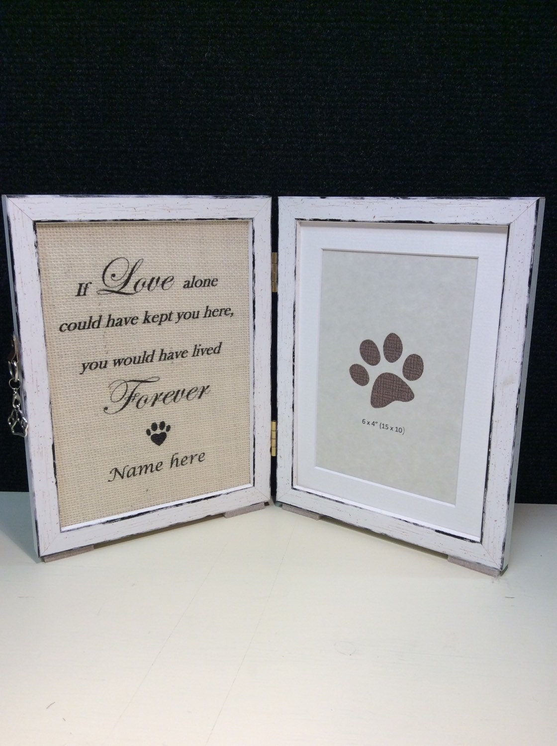 Dog Picture Frame Memorial With Tag