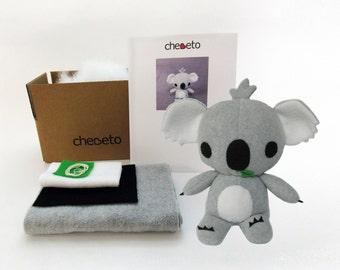Koala Sewing Kit, Koala Bear Toy Sewing Kit, Koala Stuffed Animal, DIY Stuffed Animal Kit, Koala Toy Pattern, Baby Koala, Koala Toy Gift Box