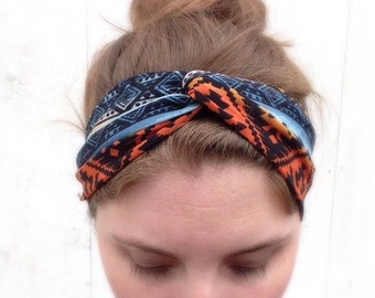 Aztec Turban Twist Headband Stretchy and Super Comfortable